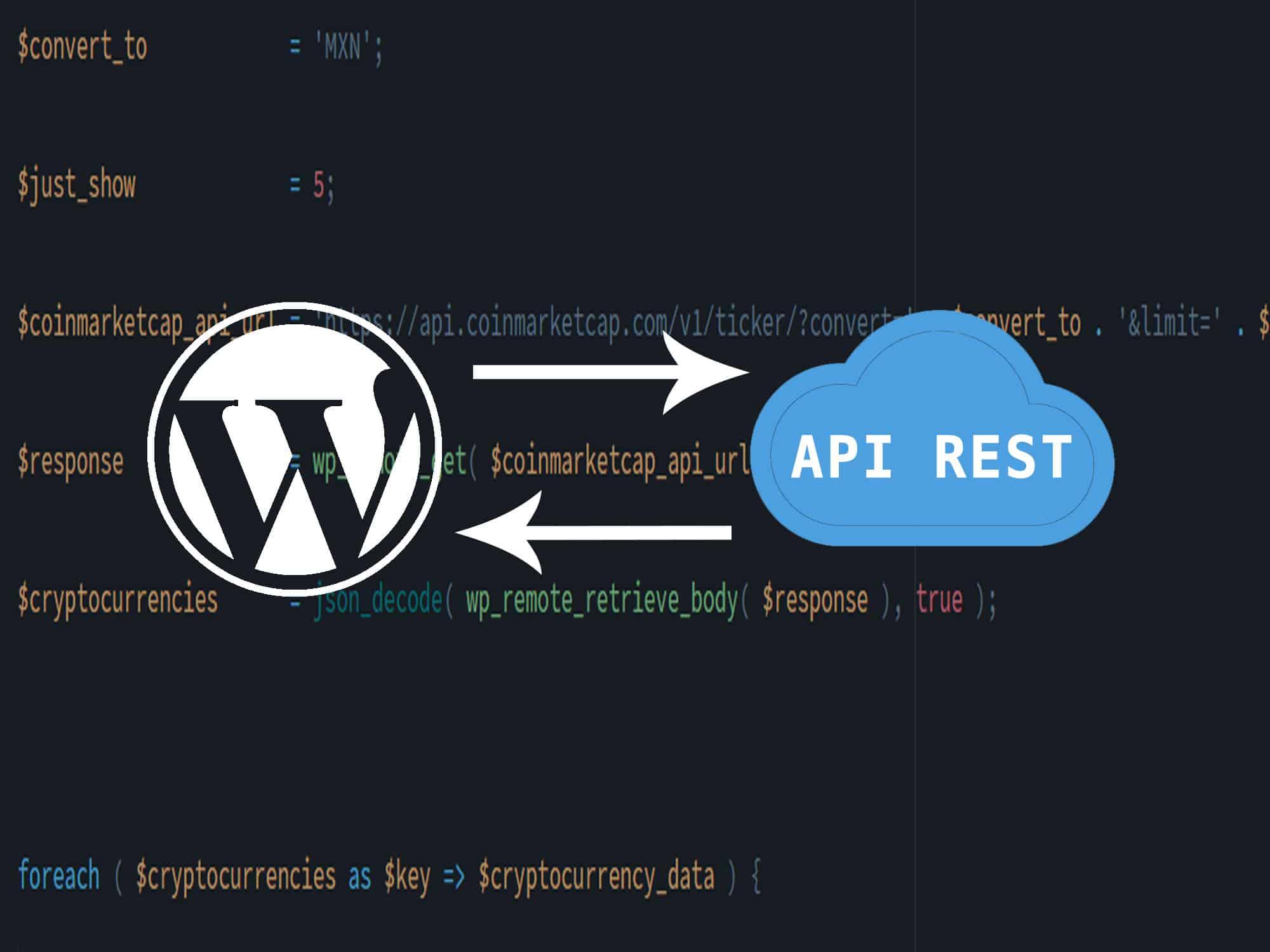Wordpress con API REST externas