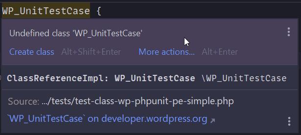 WP_UnitTestCase. Clase indefinida.